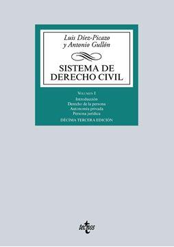 Sistema de Derecho Civil. Volumen I. Parte general del Derecho civil y personas jurídicas 2016