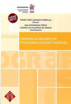 Experiencias docentes en titulaciones sociales y jurídicas