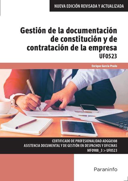 """Gestión de la documentación de constitución y de contratación de la empresa """"UF 0523"""""""