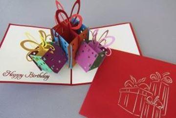 """Tarjeta felicitación. Cajas de regalo. """"Tarjetas Pop Up."""""""