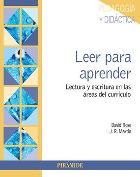 """Leer para aprender """"Lectura y escritura en las áreas del currículo"""""""