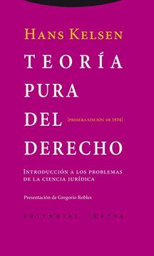 """Teoría Pura del Derecho """"Introducción a los Problemas de la Ciencia Jurídica. Primera Edición De"""""""