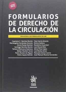 """Formularios de Derecho de la Circulación, 2016 """"Con acceso a los formularios on-line"""""""