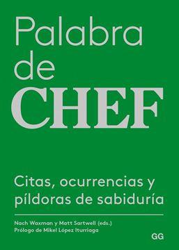 """Palabra de chef """"Citas, ocurrencias y píldoras de sabiduría"""""""