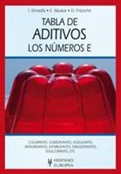 Tabla de aditivos. Los números E