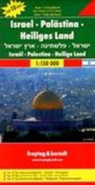 Mapa Israel, Palestina, Holy Land