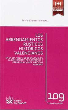 Los Arrendamientos Rústicos Históricos Valencianos