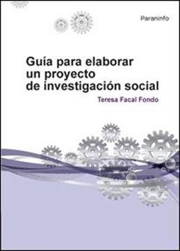 Guia para elaborar un proyecto investigacion social