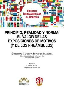 """Principio, realidad y norma: el valor  de las exposiciones de motivos """"(y de los preámbulos)"""""""