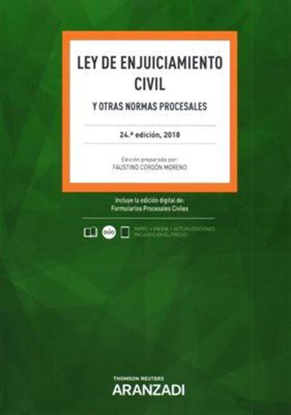 """Imagen de Ley de Enjuiciamiento Civil 24ª ed, 2018 (papel + ebook) """"Y otras normas procesales"""""""