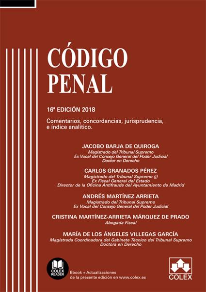 Imagen de Codigo Penal Comentado. Concordancias, Comentarios y Jurisprudencia, 16ª 2018