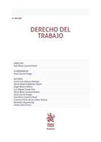 Imagen de Derecho del Trabajo 6ª ed, 2018
