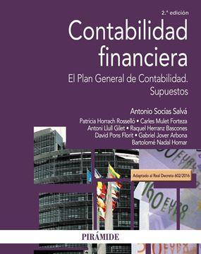 """Contabilidad financiera 2ª ed, 2018 """"El Plan General de Contabilidad. Supuestos"""""""