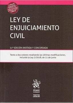 Imagen de Ley de enjuiciamiento Civil 31ª ed, 2018