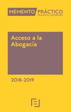 Imagen de Memento Práctico Acceso a la Abogacía 2018-2019