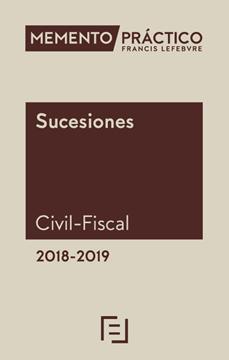 Imagen de Memento Sucesiones (Civil-Fiscal) 2018-2019