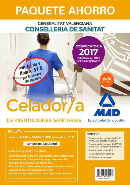 "Imagen de Paquete Ahorro Celador/a de Instituciones Sanitarias Generalitat Valenciana  ""Convocatoria 2017 publicada en el DOGV nº 8153 de 20/10/17"""