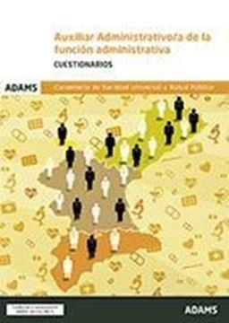 """Imagen de Cuestionarios Auxiliar Administrativo Conselleria de Sanidad Universal y Salud Pública """"Convocatoria DOGV 18/10/2017"""""""
