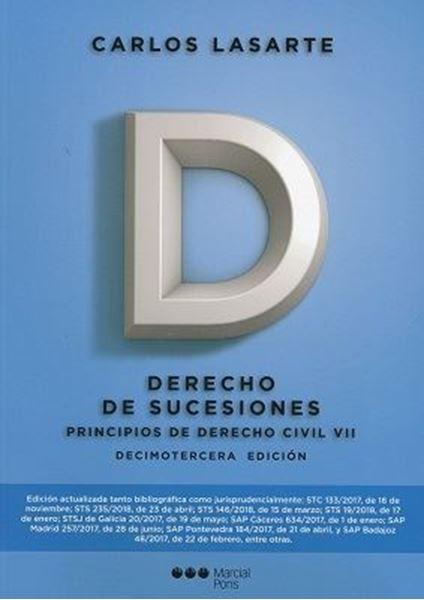Imagen de Principios de derecho civil VII. Derecho de Sucesiones, 13ª ed, 2018