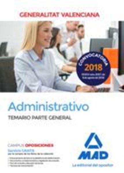 Imagen de Temario Parte General Administrativo Generalitat Valenciana 2018
