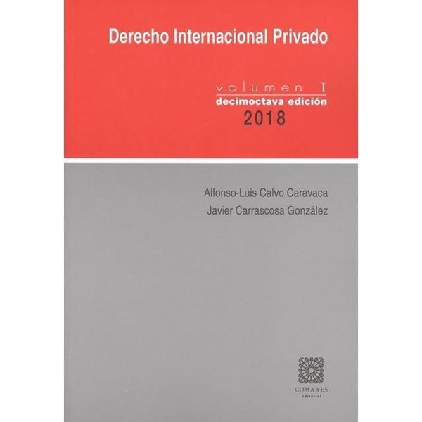 Imagen de Derecho Internacional Privado Volumen I 18ªed, 2018
