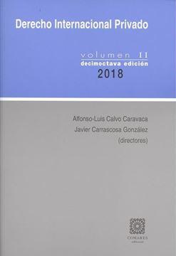 Imagen de Derecho Internacional Privado Volumen II 18ª ed, 2018