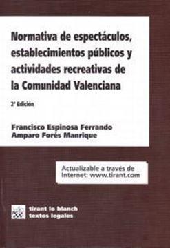 Normativa de espectáculos, establecimientos públicos y actividades recreativas de la Comunidad Valencian