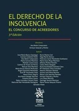 Imagen de Derecho de la insolvencia, El  3ª Ed, 2018