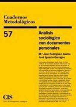 Análisis sociológico con documentos personales