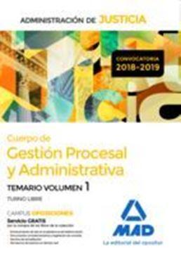 """Imagen de Temario Volumen 1 Cuerpo de Gestión Procesal y Administrativa 2018-2019 """"Administración de Justicia"""""""