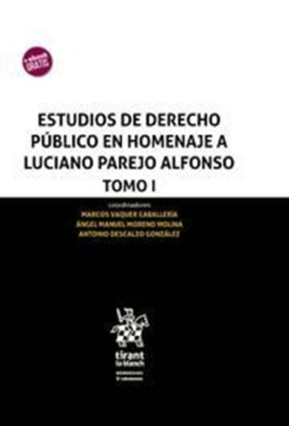 Imagen de Estudios de Derecho Público en Homenaje a Luciano Parejo Alfonso 3 Tomos, 2018