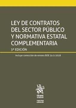 Imagen de Ley de Contratos del Sector Público y Normativa Estatal complementaria 3ª ed, 2018