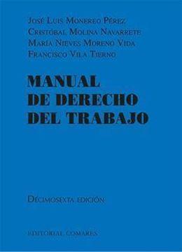 Imagen de Manual de derecho del trabajo, 16ª ed, 2018