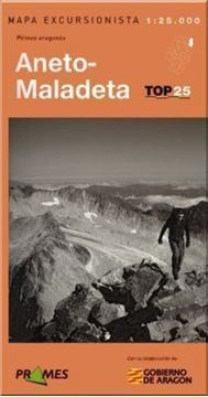 """Imagen de Mapa Excursionista Aneto-Maladeta, e 1:25.000 """"Pirineo Aragones 1:25.000  Top 25"""""""