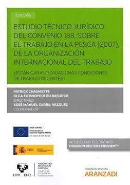 """Imagen de Estudio Técnico-Jurídico del Convenio 188, sobre el trabajo en la pesca (2007),  """"de la organización internacional del trabajo"""""""