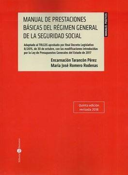 Imagen de Manual Prestaciones Básicas del Régimen General de la Seguridad Social 5ª ed, 2018