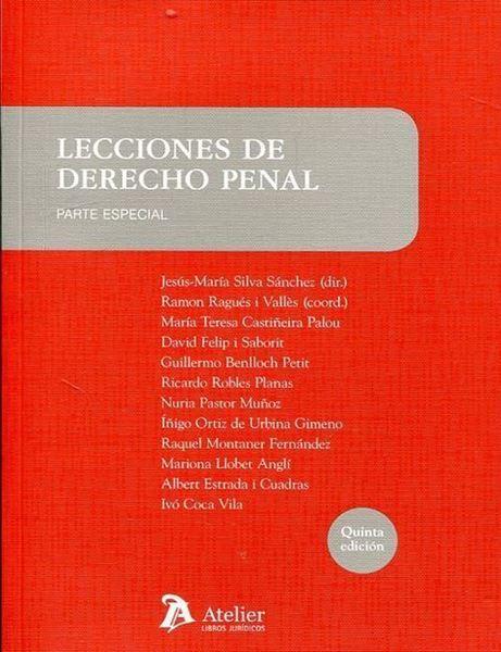 Imagen de Lecciones de derecho penal. Parte especial 5ª ed, 2018