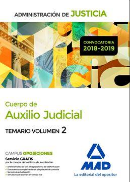 Imagen de Temario Volumen 2 Cuerpo de Auxilio Judicial Administración De Justicia 2018-2019