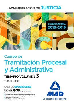 Imagen de Temario Volumen 3 Cuerpo de Tramitación Procesal y Administrativa Administración de Justicia 2018-2019