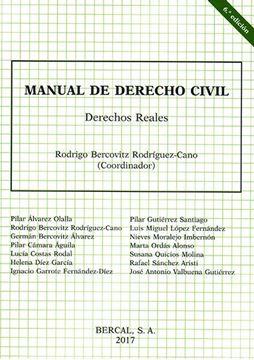 Imagen de Manual de derecho civil. Derechos Reales 6º ed. 2017
