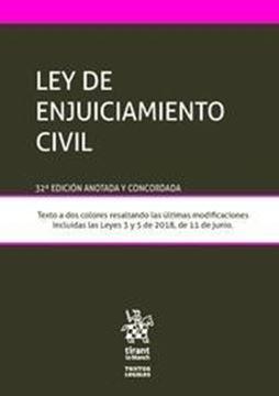 Imagen de Ley de Enjuiciamiento Civil 32ª ed, 2018