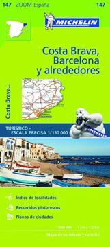 Mapa Zoom 147 Barcelona y alrededores, Costa Brava