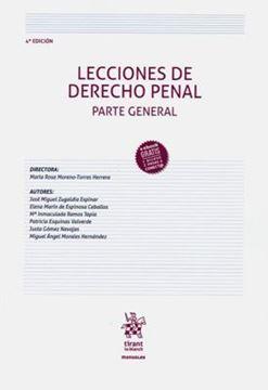 Imagen de Lecciones de Derecho Penal. Parte General, 4ª ed, 2019