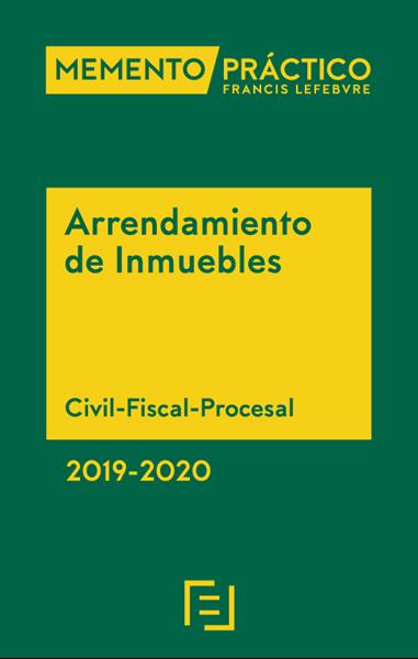 "Imagen de Memento Arrendamiento de Inmuebles 2019-2020 ""Civil-Fiscal-Procesal"""
