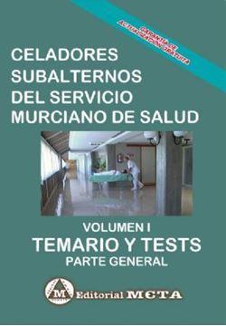 """Imagen de Temario y Tests Volumen I Celadores Subalternos del Servicio Murciano de Salud, 2019 """"Parte General"""""""