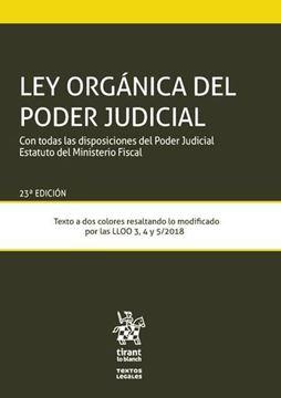 """Imagen de Ley Orgánica del Poder Judicial, 23ª ed, 2019 """"Con todas las disposiciones del Poder Judicial Estatuto del Ministerio Fiscal"""""""