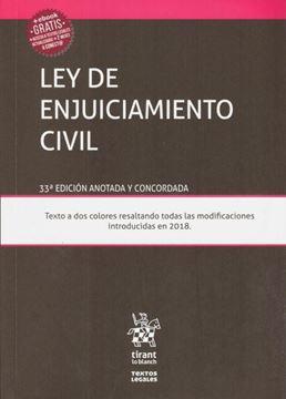 Imagen de Ley de enjuiciamiento civil, 33ª ed. 2019