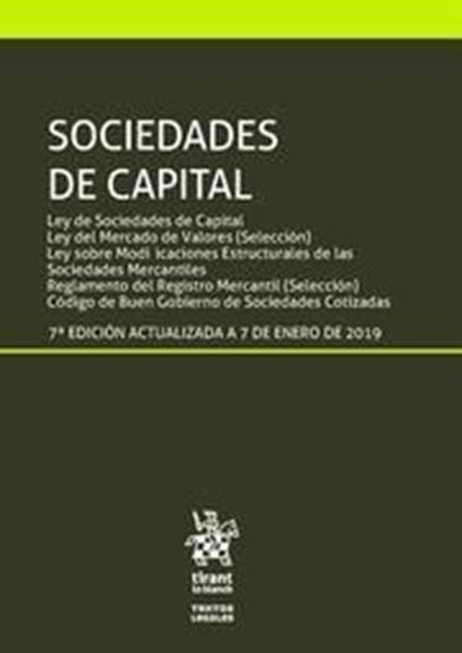 Imagen de Sociedades de capital 7ª ed, 2019