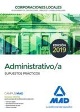 Imagen de Supuestos prácticos Administrativo/a Corporaciones Locales, 2019