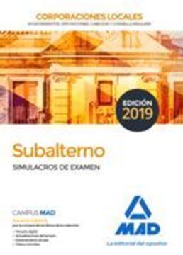 Imagen de Simulacros de examen Subalterno de Corporaciones Locales, 2019